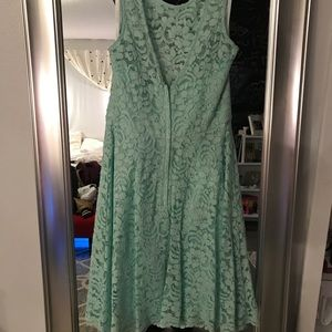 Green brides maid dress